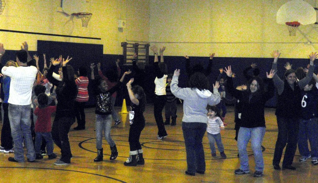family engagement dance-along